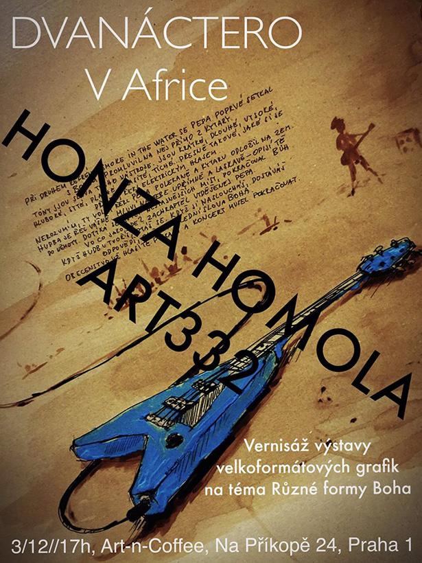 Vernisáž výstavy grafik Honzy Homoly z Wohnoutu