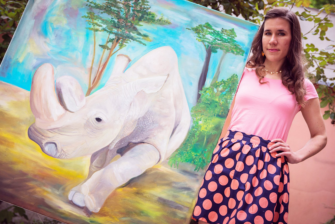 Vernisáž výstavy Kolem světa malířky Jany Dybalové